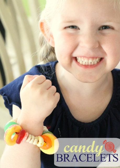 How to make Candy Bracelets!! The kids will be entertained as they make an edible bracelet!