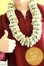 How to make money leis. Great tutorial on { lilluna.com } #graduation