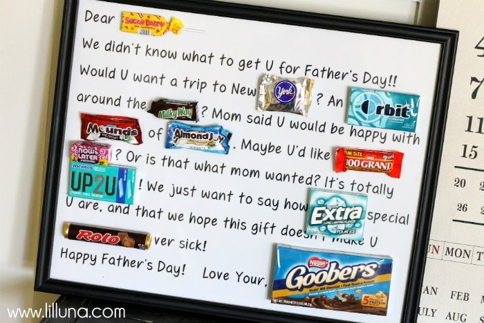 fathers day candy bar poster printable