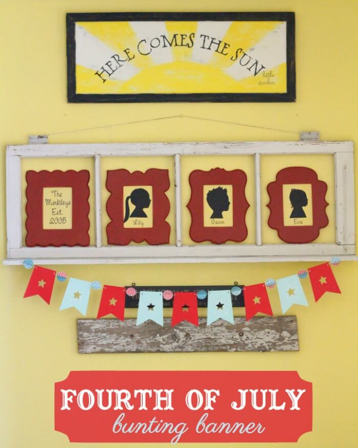Fourth of July Banner. Easy and cute - I'm making this! So festive!!