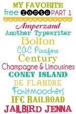 Favorite Free Fonts – Part 1