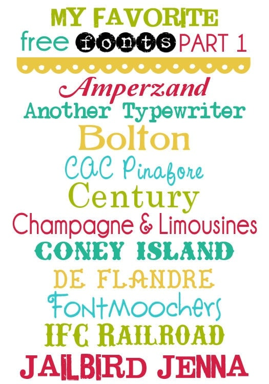 My Favorite Free Fonts Part 2 on { lilluna.com } So many cute fonts!