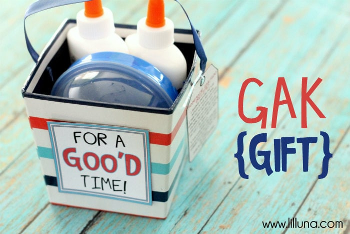 Gak Gift!! Very fun and inexpensive gift that kids will love!!
