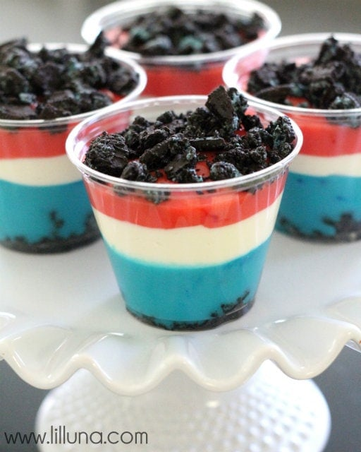 Patriotic Pudding Cups - 6