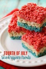 Fourth of July Rice Krispie Treats {Red, White, and Blue ...