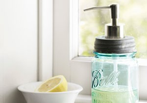 DIY Soap Dispenser from Country Living