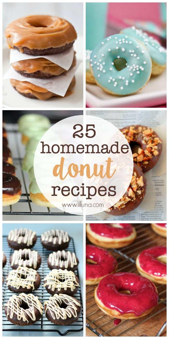25 Homemade Donut Recipes - so many recipes, so little time!! { lilluna.com }