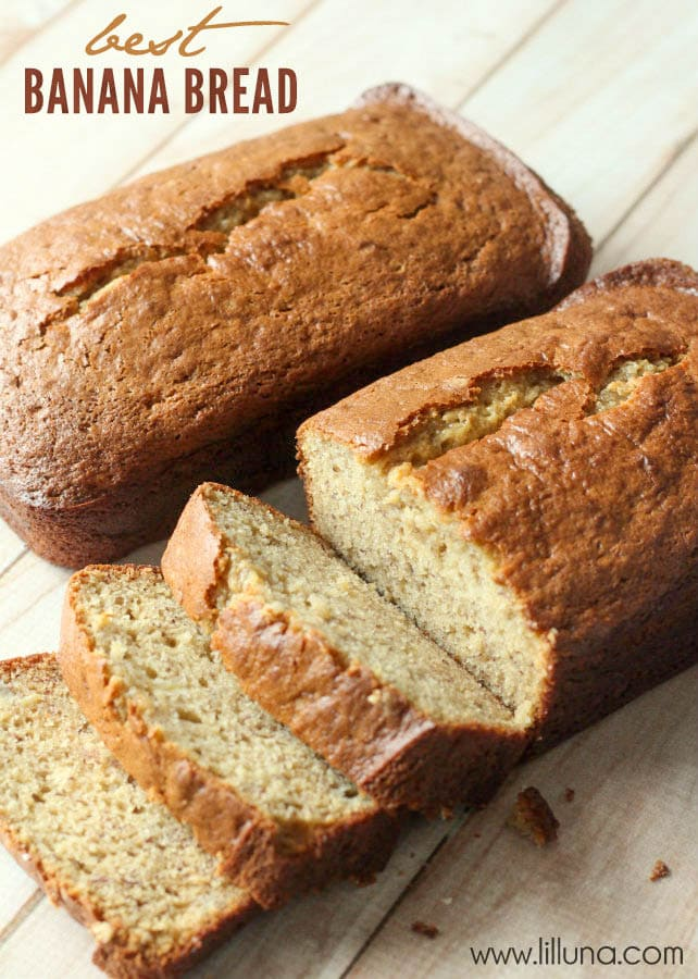 Best Banana Bread Recipe EVER! So yummy! And, so moist and delicious!