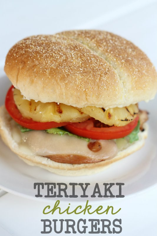Teriyaki Chicken Burgers. LOVE this recipe on { lilluna.com }