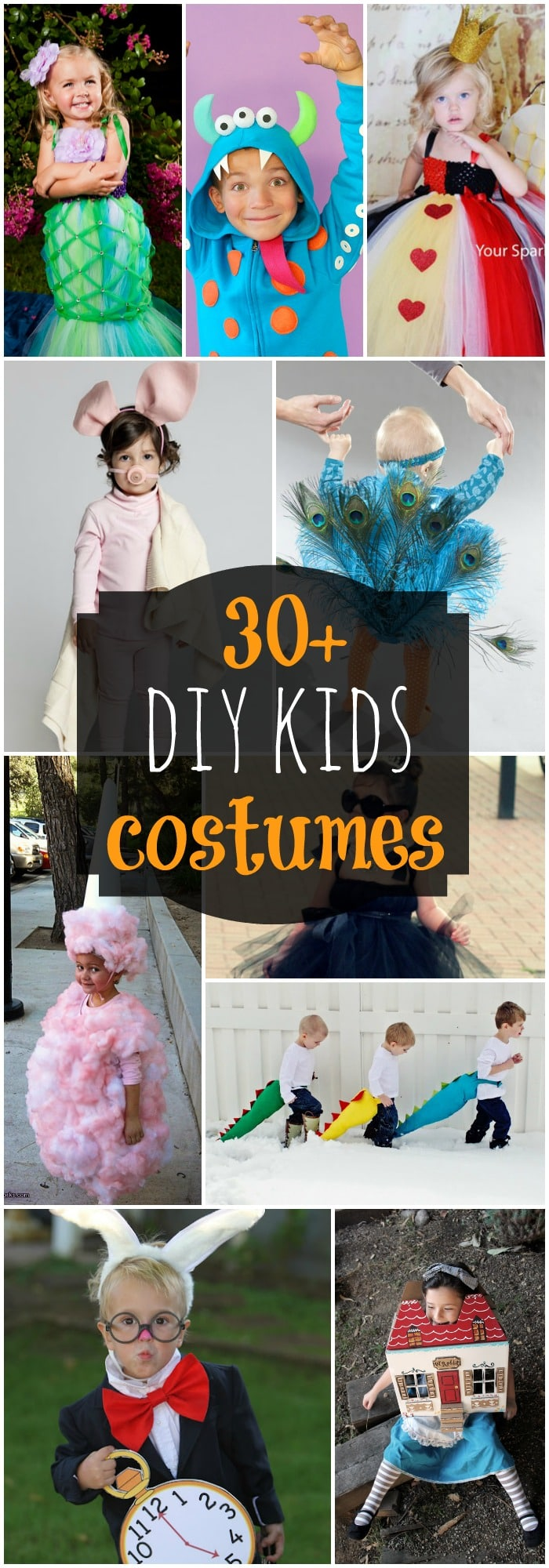 30+ DIY costumes for kids! SO many adorable Halloween costumes that you can make for your kids!! { lilluna.com }