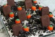 Graveyard Dirt Cake. This is perfect for Halloween!!