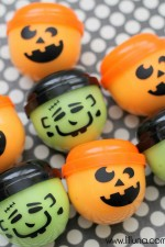 Halloween Vending Capsules filled with Homemade Gak!