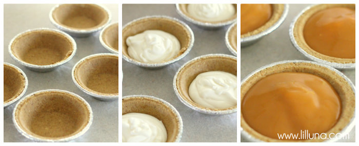 The kiddos' favorite - Mini Butterscotch Graham Pies! { lilluna.com } Few ingredients including grahams, butterscotch pudding, & cool whip!!