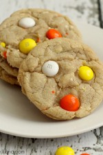 Soft White Chocolate Candy Corn M&M Cookies Recipe