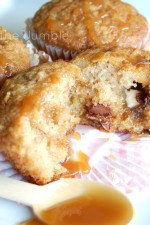 Caramel Apple and Chocolate Muffins
