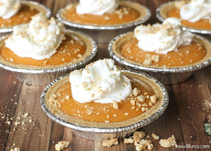 Mini Butterscotch Graham Pies recipe