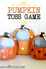 Funkins Toss Game - such a fun and cute idea for any Halloween party! #pumpkins