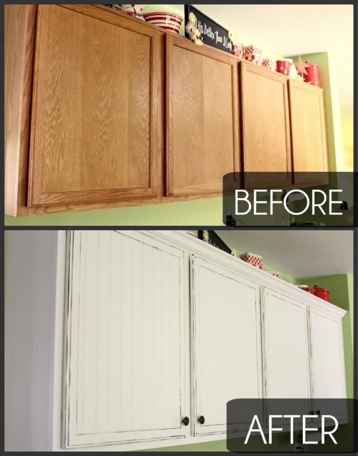 Easy Kitchen Cupboard Makeover!! Tips on how to get the look you want!!