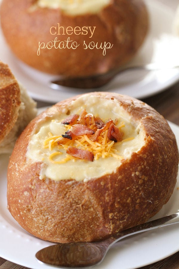 The easiest and yummiest soup ever - Cheesy Potato Soup - just throw ...