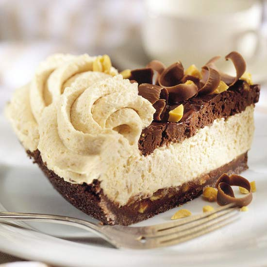 Chocolate Mousse Pie With Marshmallows Chocolate peanut mousse pie