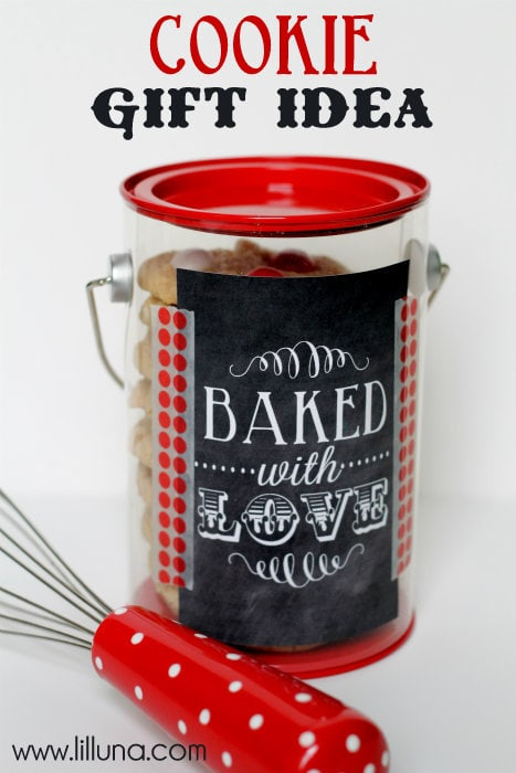 Cookie Gift Idea!! FREE print on { lilluna.com } Such a cute idea!
