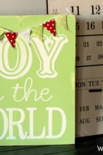 Joy to the World Sign. Cute and simple. #craft