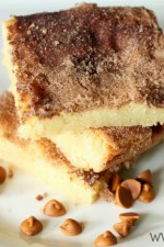 Snickerdoodle Blondies. Yes, please!! #snickerdoodle