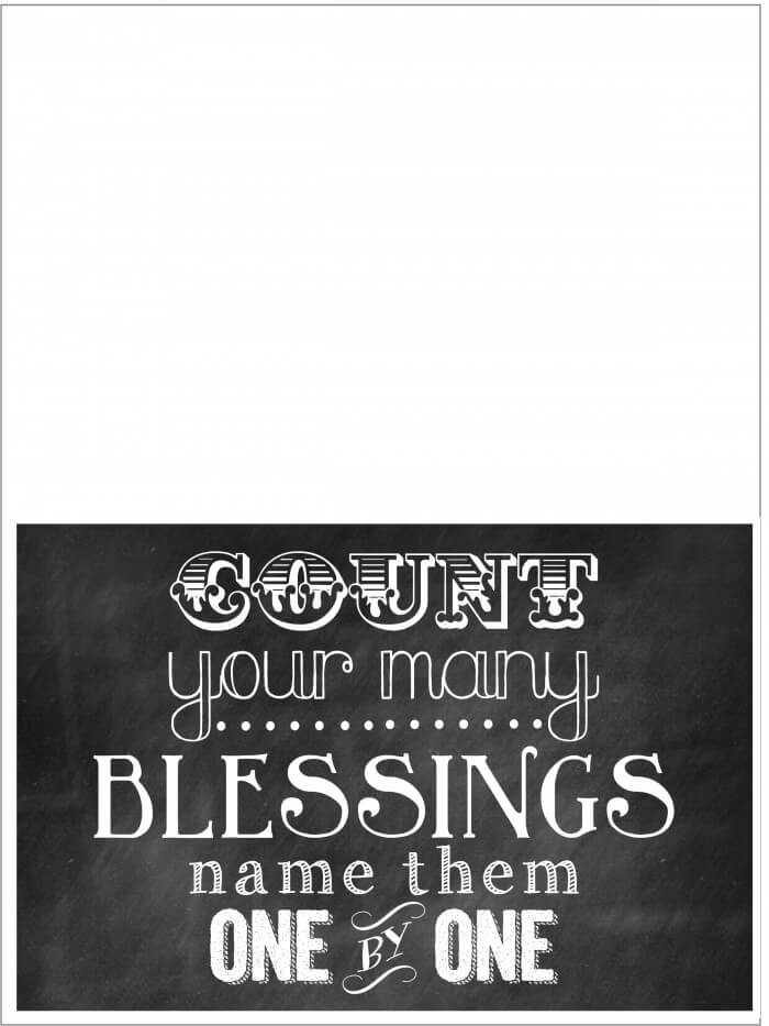 Count Your Blessings Printable on { lilluna.com } Use as decor or put in a frame and give as a gift!!