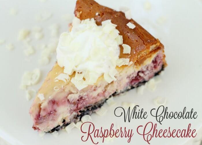 Delicious White Chocolate Raspberry Cheesecake { lilluna.com } So yummy!!!