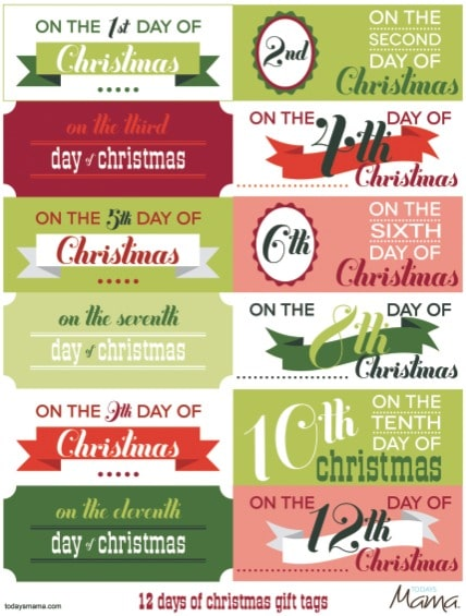 25 free christmas tags. Black Bedroom Furniture Sets. Home Design Ideas