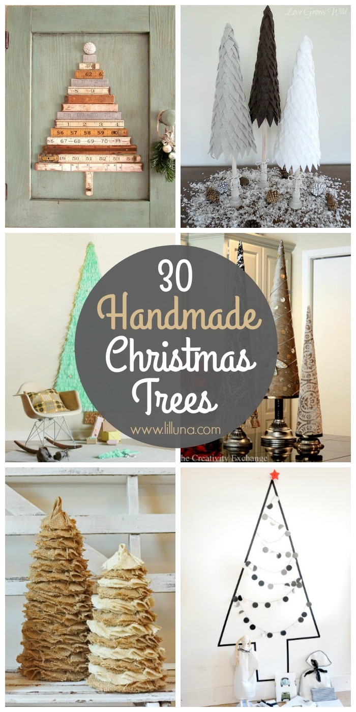 30 beautiful handmade Christmas tree tutorials! See it on { lilluna.com }