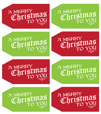 25 FREE Christmas Tags!! They can be used for so many things!! Colorful & cute!