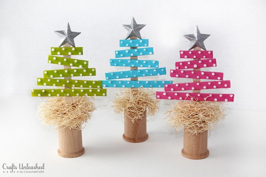 30 handmade christmas trees for Unique diy christmas crafts