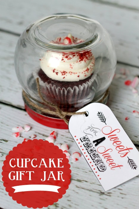 Cupcake Gift Jar!! Keep upside down or turn right side up and fill with treats!!