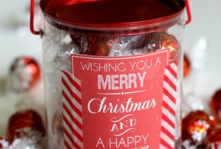 Cute and easy neighbor gift idea. Free tag download at { lilluna.com }
