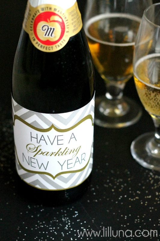 Sparkling New Year S Eve Nails Tutorial: Sparkling Cider New Year Prints