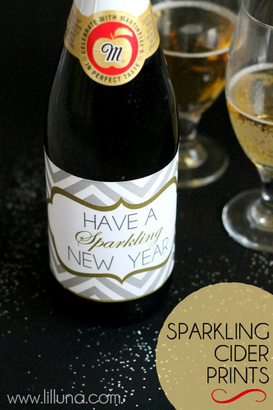 Sparkling Cider Prints!! Wrap on sparkling cider and give as a gift!!
