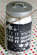 Let it Snow Print and Jar