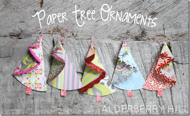 A beautiful collection of 30 Handmade Christmas Trees! Lots of great ideas to inspire you