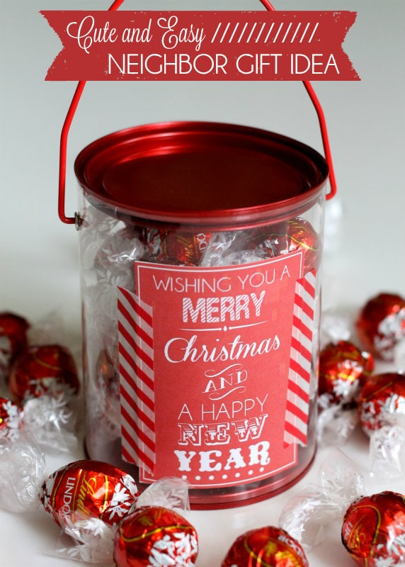 Super cute and simple Treat Gift Idea!! Perfect for friends or neighbors, just fill with a yummy treat!