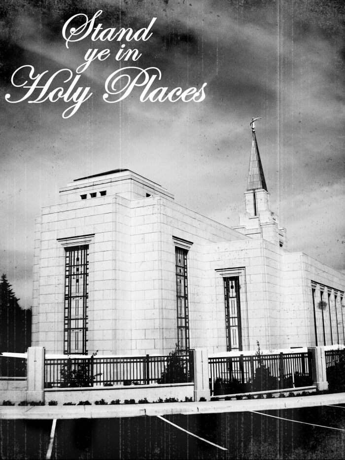 Stand Ye In Holy Places Temple Blocks! Such a great gift for your daughters or young women!