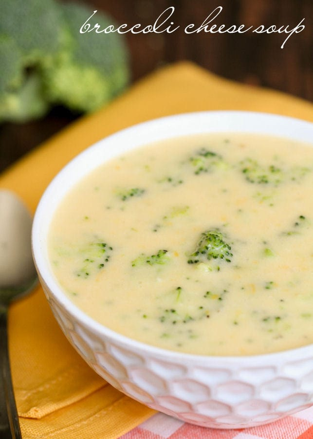 Broccoli Cheese Soup - so delicious and tastes just like Disneyland's version! Creamy and smooth with lots of flavor!