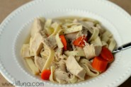 Chicken Noodle Soup recipe on { lilluna.com } #chickennoodle