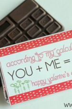 Chocolate Calculator Valentine. Such a cute idea. Free print on { lilluna.com } #valentines
