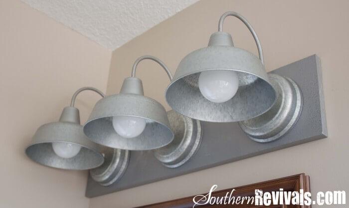 DIY Galvanized Light Fixture Tutorial on { lilluna.com } Love this look!