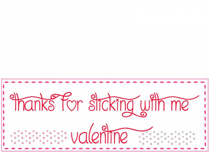 Valentines Thanks for Sticking With Me Labels { lilluna.com }