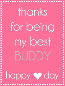 Valentines Thanks for being my best buddy tag {light pink}. Free tag on { lilluna.com }