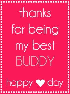 Valentines Thanks for being my best buddy tag {pink}. Free tag on { lilluna.com }