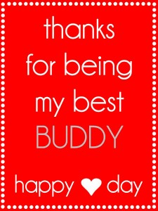 Valentines Thanks for being my best buddy tag {red}. Free tag on { lilluna.com }