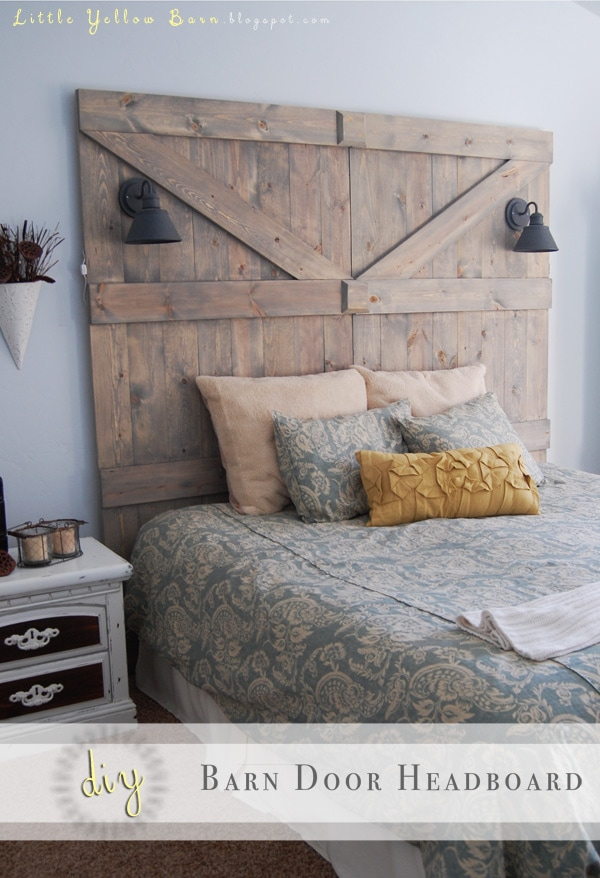 DIY Barn Door Headboard Tutorial on { lilluna.com }